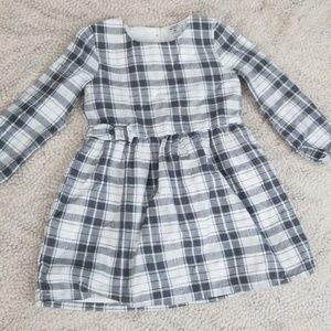3t longsleved plaid dress